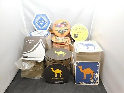 300+/- Mixed Lot 7 Styles Camel Beer Coasters All 2 Sided Exept Pool League