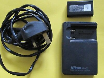 NIKON MH-52 Lithium Ion Batter Charger with Battery