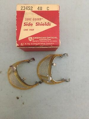 American Optical Detachable Side Shields Safety Wire Mesh Clips 23452 48 C