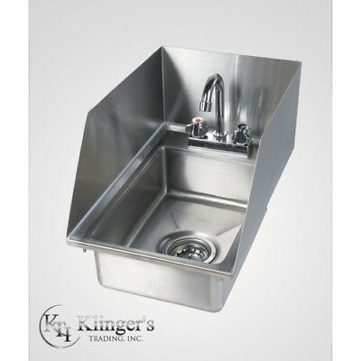 Stainless Steel Drop In Hand Sink with Splash Guards
