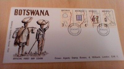 1972 Botswana Mafeking -Gubualayo Runner Post First Day Cover