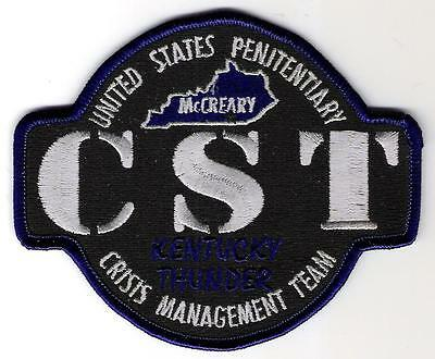 Bureau of Prisons USP McCreary Crisis Support Team Patch KY