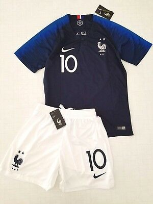 new arrival 12e04 7430d MBAPPE FRANCE 2018 World Cup Kit w/ 2 Stars size SMALL