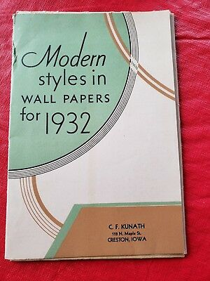 Vintage Modern Styles in Wall Papers for 1932 Folder Supplies Wallpaper Samples