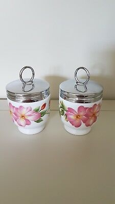 Pair Of Royal Worcester Pershore Egg Coddlers. 1 Egg Size.