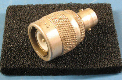 1pc CARO UG/636U Silver Plated Brass Type C to BNC Female Coaxial Adapter