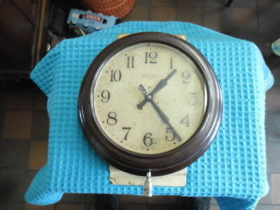 Smith's 8 Day Brown Bakelite Wall Clock