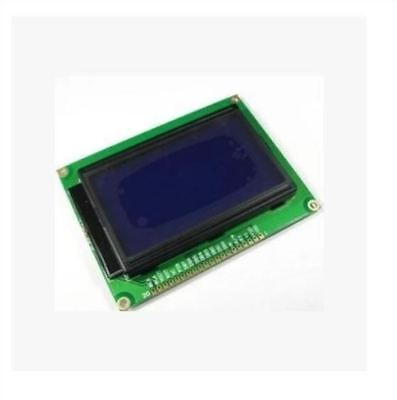 128X64 Dots Graphic Matrix Lcd Blue Backlight Lcd Display Module 5V 12864 New cc