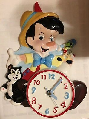 Disney Schmid Pinocchio Clock Slightly Used