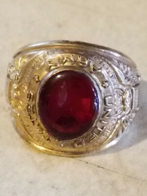 Vintage US  Military Ring, 14k Gold Plated? Army ring Serviceman Soldier
