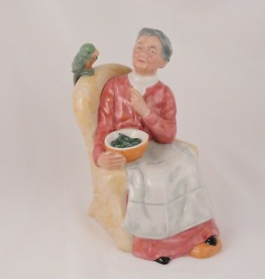 Royal Doulton Figurine Pretty Polly HN2768 W. Harper Lady with Green Parrot