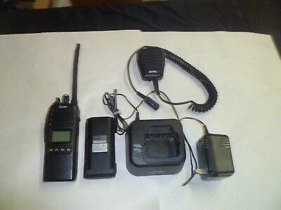 Icom IC-F70S 136-174 MHz VHF Two Way Radio with Charger & Speaker Microphone