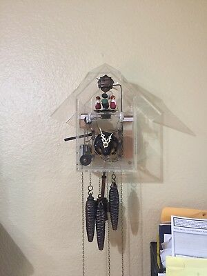 Black Forest Musical Lucite Cuckoo Clock . Possible Limited Production