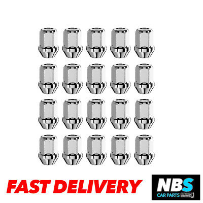 20 x Alloy Wheel Nuts M12 x 1.5 19mm Hex for Volvo V50