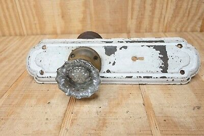 Antique Glass Doorknob with Door Plate