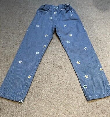 Stella McCartney kids girl flower embrioded light weight jeans age 6 years