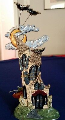 "Blue Sky Clayworks by Heather Goldminc - Halloween - ""Just Batty"" Ceramic House"
