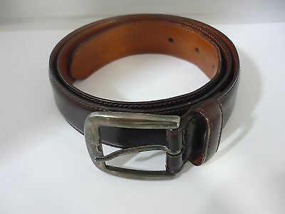 Rare Genuine Giorgio Armani Sterling Silver & Leather Belt Size 80/32