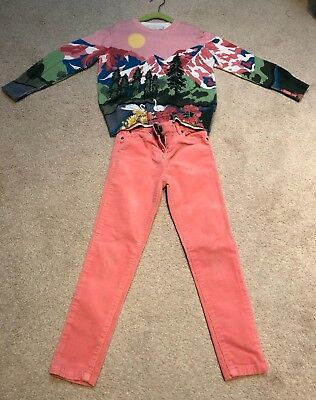 Stella McCartney kids girl outfit jumper with pink corded jeans age 6 years