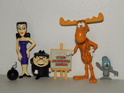 Rocky & Bullwinkle Figure Lot Natasha & Boris 1998 Limited edition