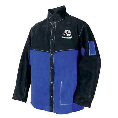 Color Block Leather Welding Jacket Size L (Free Shipping Aust Wide)