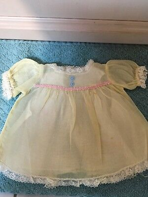 Vintage Ideal Thumbelina Organdy Dress And Cotton Slip