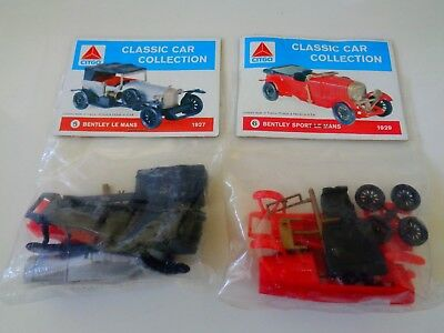 Citco Classic Car Collection Kits - (2) Bentley  Le Mans  Nip