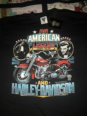 Vintage 80s Harley Davidson James Dean T Shirt SSI USA New With Tag 1986