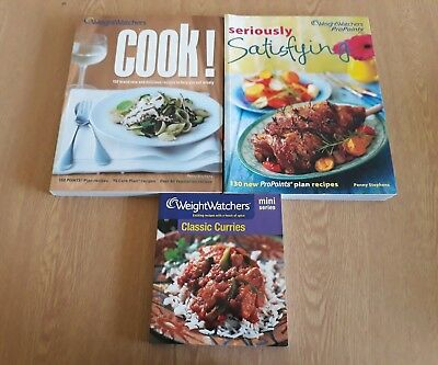 2 Used Weight Watchers Recipe Books - Seriously Satisfying / Cook 80 Vegetarian