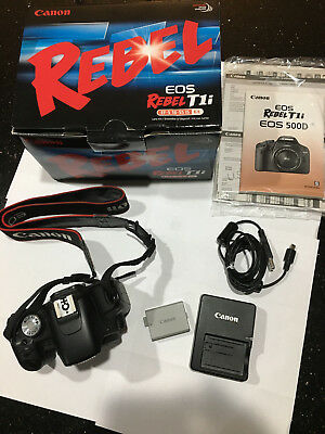 Canon Rebel EOS T1i/500D EF-S 18-55 IS - Body Only + Accessories