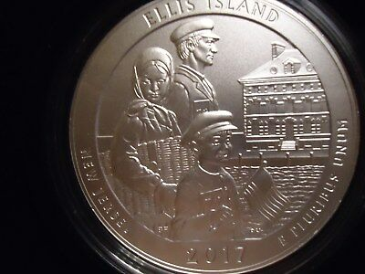 2017 P Ellis Island ATB 5 oz coin with OGP & COA