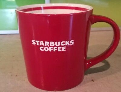 Starbucks 2010 Red White Bone China Coffee Tea Cup Mug Nouvelle Porcelain