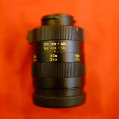 Leica Zoom Eyepiece: 20-60X Zoom for 77mm and 16-48X for 62mm Televids