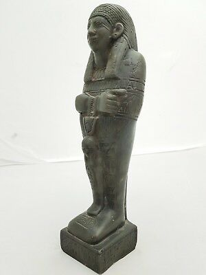 RARE ANCIENT EGYPTIAN ANTIQUE USHABTI (Shabti) Statue 2600-2100 BC Luxor Stone