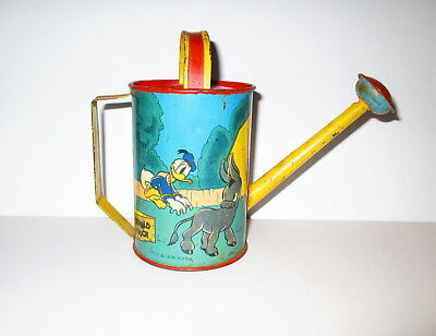 1938 Disney Donald Duck Tin Watering Can by Ohio Art
