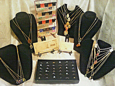 70+ Pc.MIXED JEWELRY~LOT RINGS/Earrings/GEMSTONES and MIXED Necklaces /GOLD$10