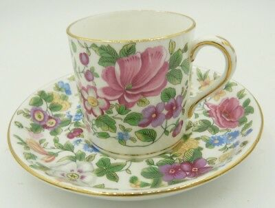 Fine Bone China - Crown Staffordshire England - Cup and Saucer Set