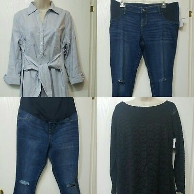 LOT Isabel Maternity NWOT 2 Medium Dresses, size 10 Skinny Capri and Jean's