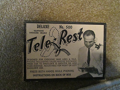 NEW IN BOX Vintage TELE-REST Hands Free Telephone Rest by HH RENNEKER Beige