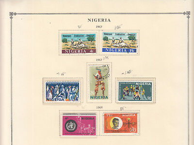 Nigeria - 1967/1973 stamp collection on double-side Scott pages