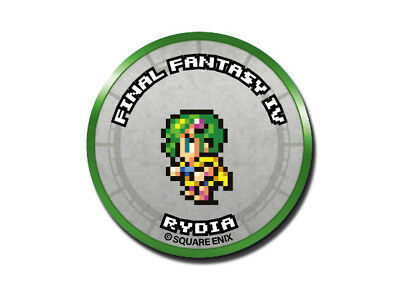 Final Fantasy Record Keeper Pin Badge Collection FFIV Rydia Pixel Art Button