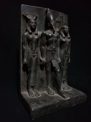 RARE ANCIENT EGYPTIAN STATUE Egypt Orisis AND Nephthys and isis 1375 BC