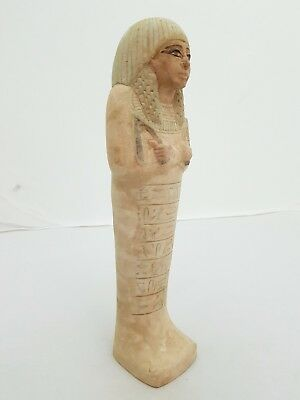 RARE ANCIENT EGYPTIAN ANTIQUE USHABTI Of PRINCESS New Kingdom LUXOR Stone BC
