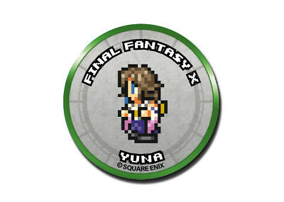 Final Fantasy Record Keeper Pin Badge Collection FFX Yuna Pixel Art Button