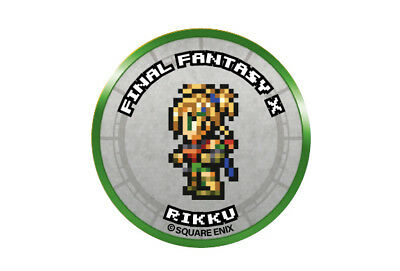 Final Fantasy Record Keeper Pin Badge Collection FFX Rikku Pixel Art Button