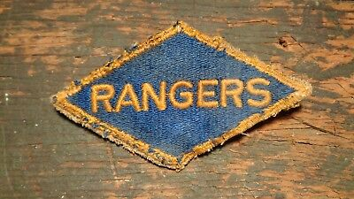 RARE original WWII vintage RANGER diamond patch SALTY UNIFORM REMOVED