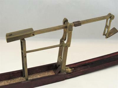Antique Gold Guinea Folding Pocket Coin Balance Scale 1700s English Brass Cased