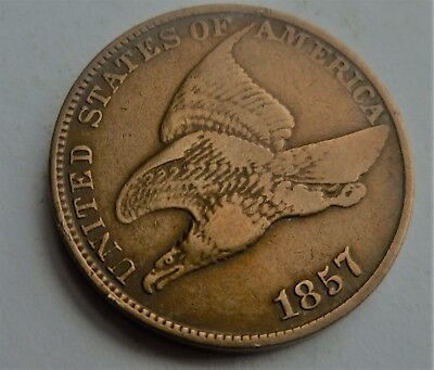 1857 Flying Eagle Penny Beautiful Coin High Grade