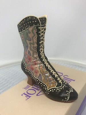 Just The Right Shoe Deco Boot 25015 Retired Raine 1998 Mint In Box
