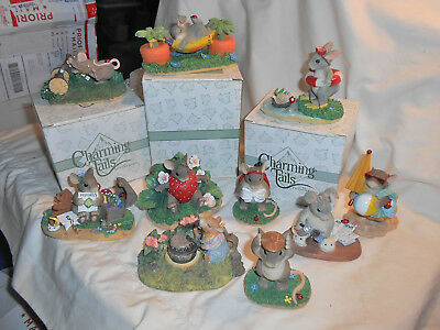 Lot Of 10 Charming Tails  - all different- 3 boxes - 7 no box